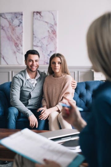 Photo of couple in therapy